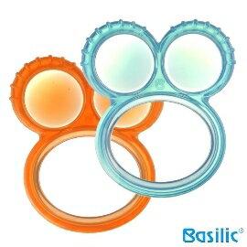 小崴Life親子館【貝喜力克 Basilic】嬰兒固齒器 - 雙圓 (D090) (固齒器、固齒玩具、牙齒咬環)