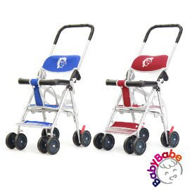 小崴Life親子館【BabyBabe】輕便型手推車 - 紅色/藍色 (503) 機車椅