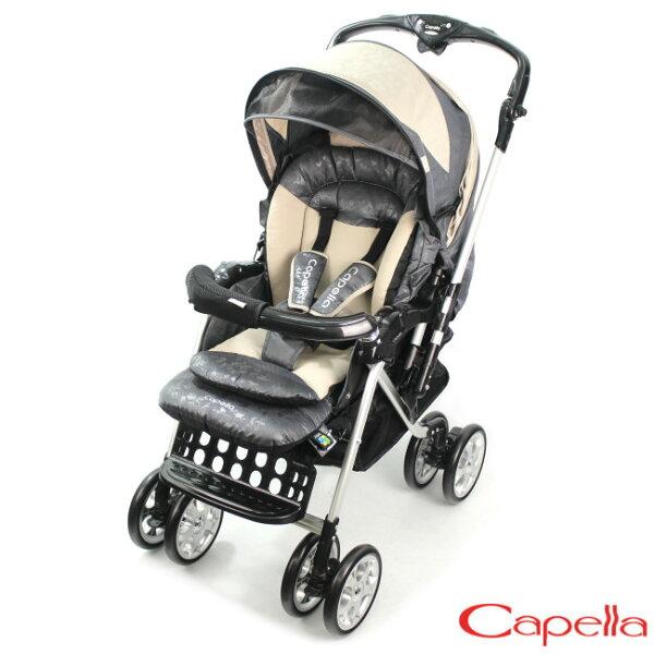 Capella Y1系列 新款旗艦版銀離子抗菌雙向秒收推車(S707)-優雅灰