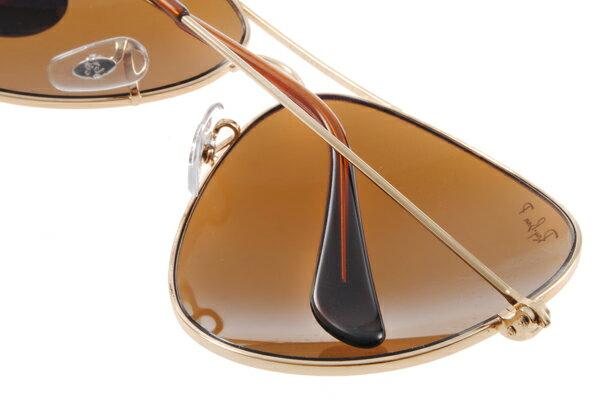 Ray Ban 雷朋 金邊茶色偏光 RB3025 太陽眼鏡 5
