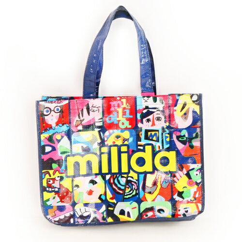 【milida】☆送品牌購物袋☆歐風流行塗鴉環保購物袋