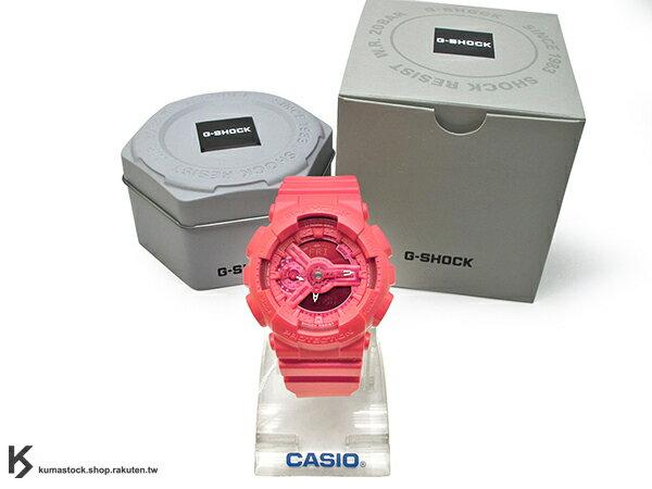 kumastock 2016 最新 46mm 錶徑 貼合女性手腕曲線 CASIO G-SHOCK GMA-S110VC-4ADR BRIGHT VIVID COLOR 亮紅 S SERIES FOR LADIES 女孩專用 !
