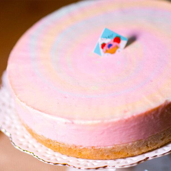 ★感謝綜藝大熱門★推薦!網友激推彩虹生乳酪在這>>犒賞大餐好咖彩虹生乳酪(6吋) 天然食材原色-生乳酪彩虹蛋糕