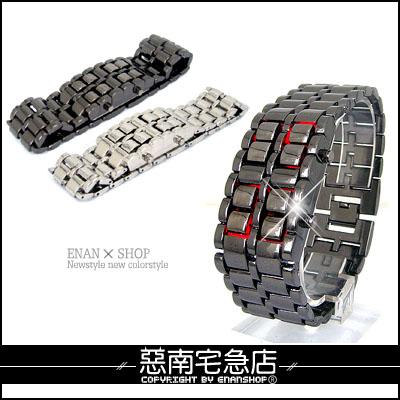 惡南宅急店【0037F】獨家造型手錶『熔岩燈LED款』可當情侶對錶?單支價《贈送禮盒》