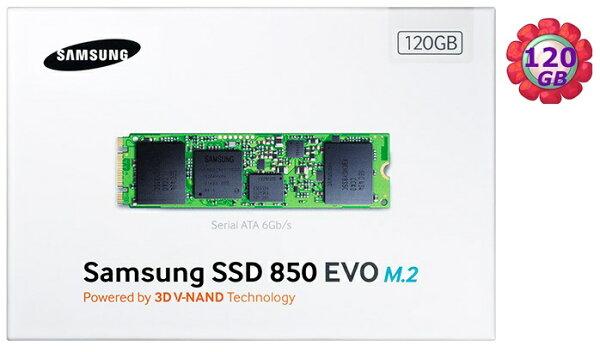SAMSUNG SSD 850 EVO M.2 120GB MZ-N5E120BW SATA III Internal Solid State Drive 內接式 筆電固態硬碟