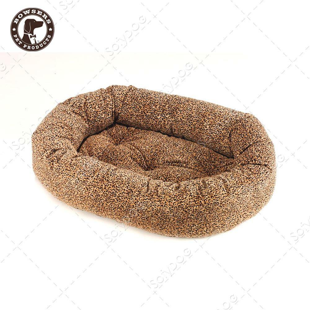 BOWSERS甜甜圈極適寵物床~迷你豹紋~S