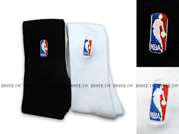 Shoestw【8261212-】創信NBA 運動襪 長襪 小腿肚到膝蓋 黑 白 兩色 一雙250元