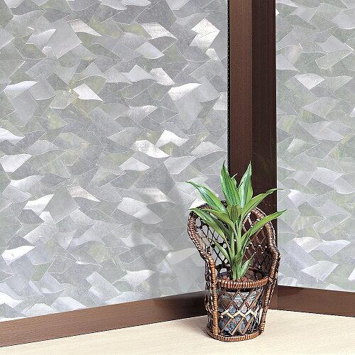 【零碼】日本MEIWA抗UV節能3D靜電窗貼 (片片星鑽) - 46x91公分