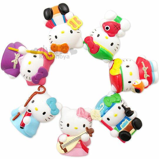 〔小禮堂〕Hello Kitty 七福神玩偶擺飾《小.7入》有透明盒裝