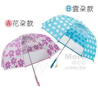 下雨天推薦雨靴/雨傘/雨衣推薦[日潮夯店] 日本正版進口 花朵 雲朵 安全 兒童傘 雨傘 直傘 共兩款