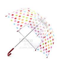 下雨天推薦雨靴/雨傘/雨衣推薦[日潮夯店]日本正版進口 彩色點點 安全 兒童 雨傘 直傘