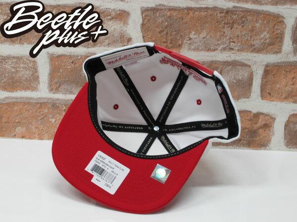 BEETLE MITCHELL&NESS NBA CHICAGO BULLS 芝加哥 公牛 冠軍 紅白 SNAPBACK MN-339 2