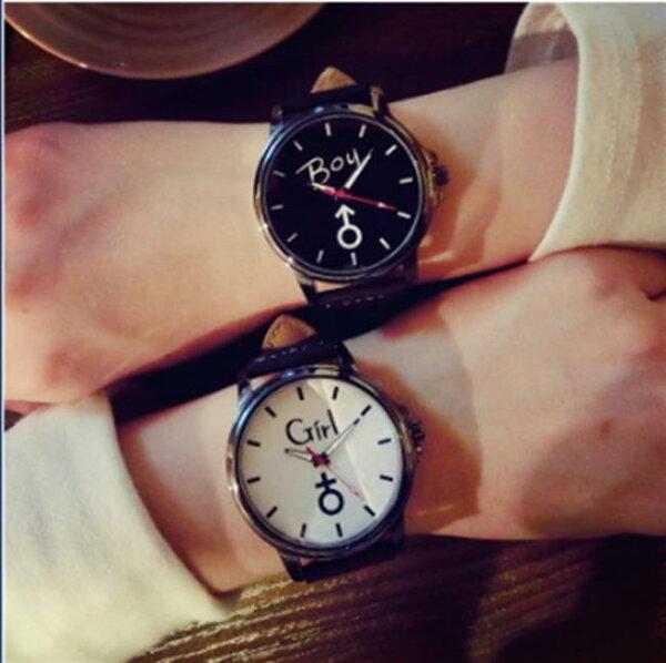50%OFF【H014062WAH】韓國中學生女錶韓版潮流行時尚原宿復古風個性潮男錶情侶手錶一對附錶盒