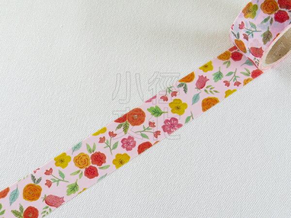 *小徑文化*日本進口 Aimez le style 2014ss 和紙膠帶 - Flower ( JAN 3478 )