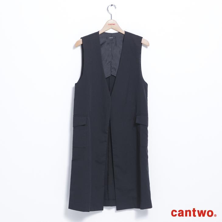 cantwo長版西裝背心(共二色) 6