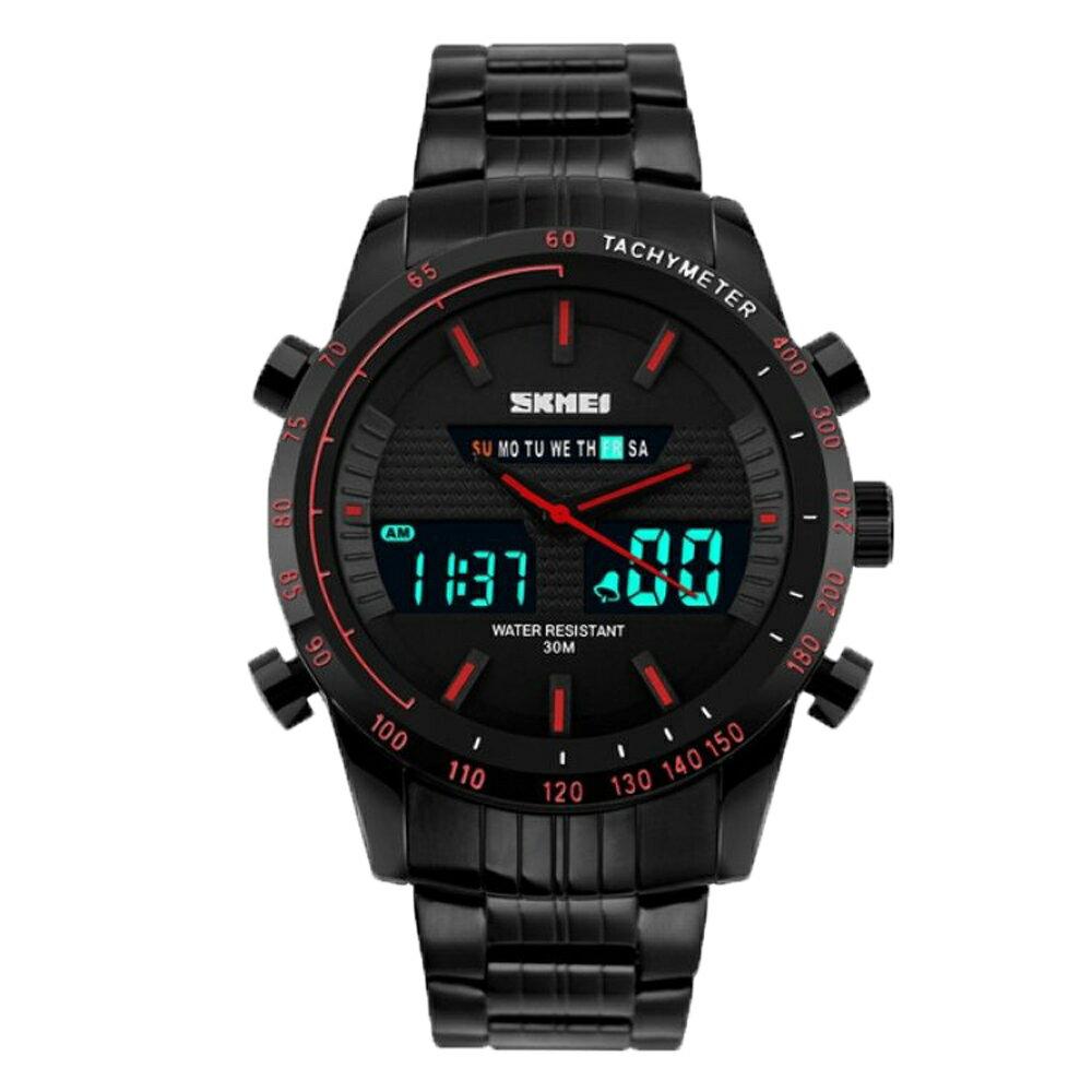 SKMEI 時刻美 1131 時尚雙顯夜光多功能防水計時運動錶 1