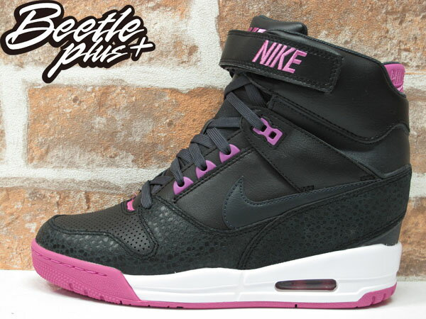 BEETLE PLUS 全新 NIKE AIR REVOLUTION SKY HI 黑 桃紫 女鞋 內增高 楔型鞋 599410-001 0