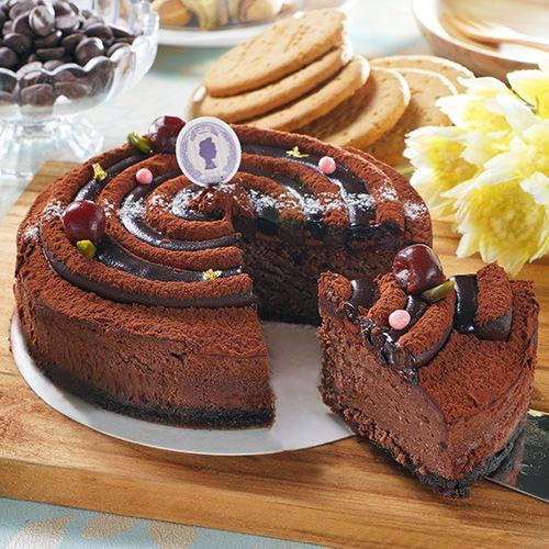6吋金箔巧克力重乳酪蛋糕❤全國首創 /華麗登場.秒殺!法國58%生巧克力, 口感濃郁層次豐富,一層一層、堆疊的巧克力堡壘[野餐甜點、彌月、團購、伴手禮首選]