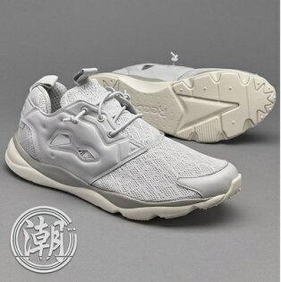 Reebok Furylite TM 黑灰 白 黑色 立體編織 輕量慢跑鞋 網布 黑魂 影子 武士 男鞋【T0031】潮