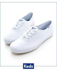 Keds 經典長青帆布鞋(寬楦)-白