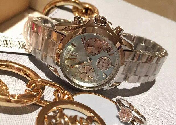 美國Outlet 正品代購 Michael Kors MK 簡約淺藍三環計時手錶腕錶 MK6098 3