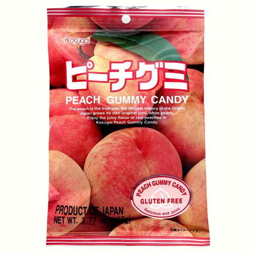 有樂町進口食品 日本春日井 水蜜桃軟糖 QQ軟糖 J65 4901326040342 0