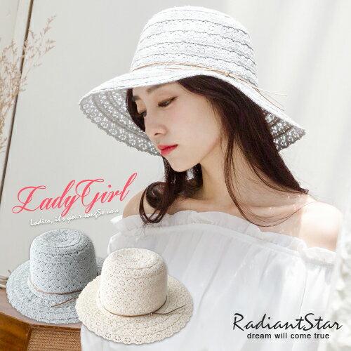 韓國馬爾地夫浪漫清甜鏤空織花草帽【C043】璀璨之星☆