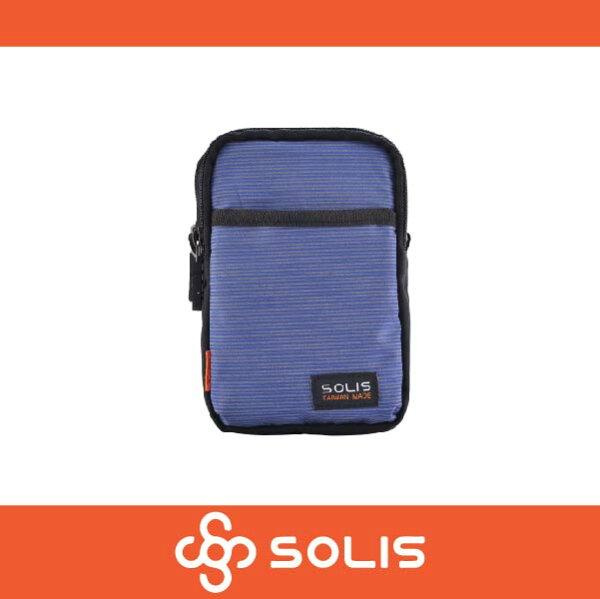 萬特戶外運動 SOLIS B07004 反光印花系列多功能萬用包 側背包 腰包 防潑水 藍紫色