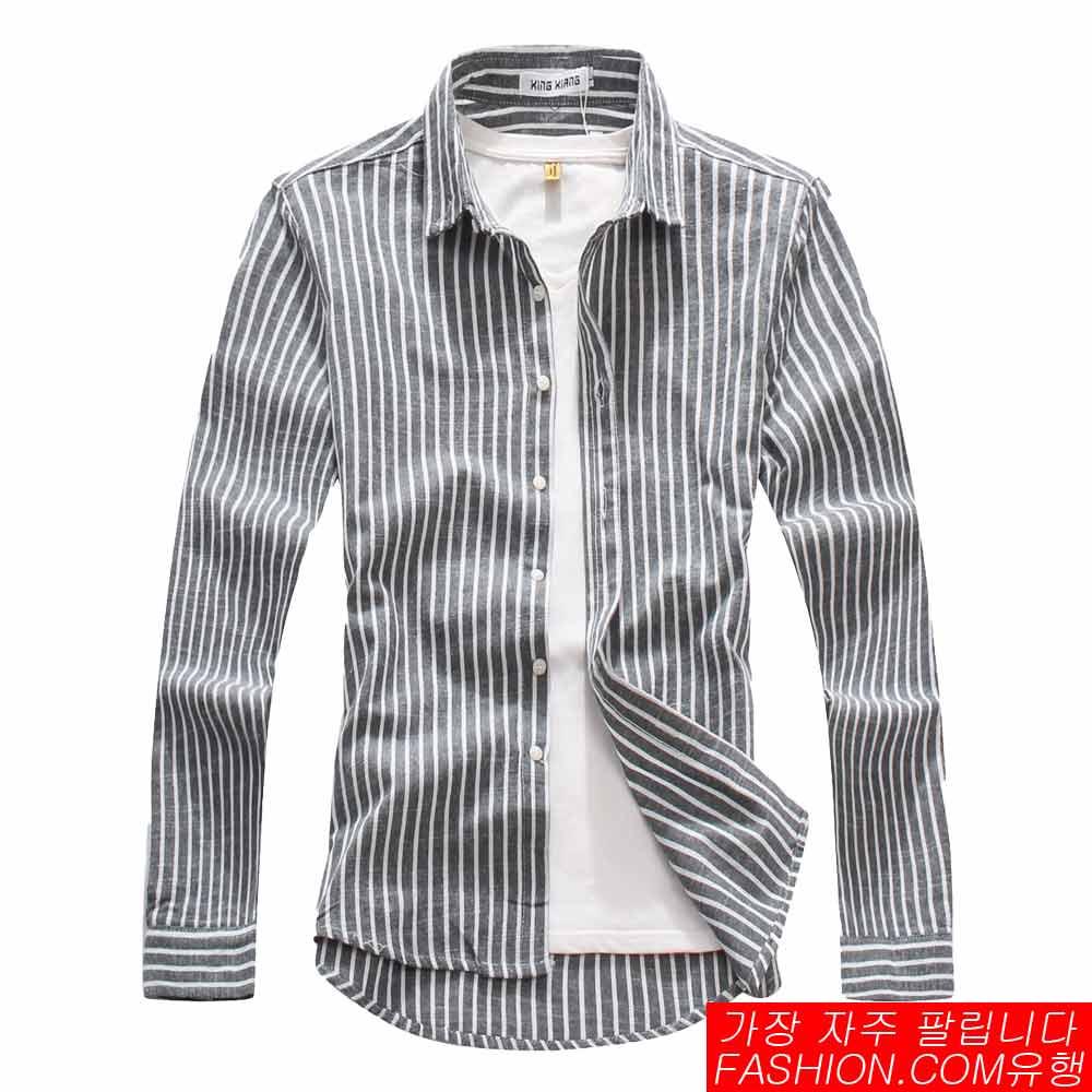 DITION 職人商務粗直條紋極簡長袖襯衫 2