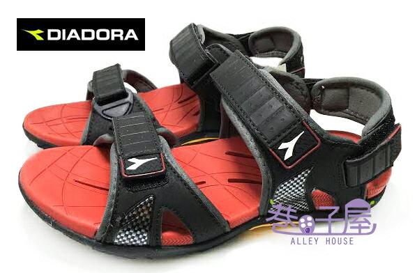 【巷子屋】義大利國寶鞋-DIADORA迪亞多納 男款透氣排水超耐磨兩穿式運動涼鞋 [9602] 黑紅 超值價$398