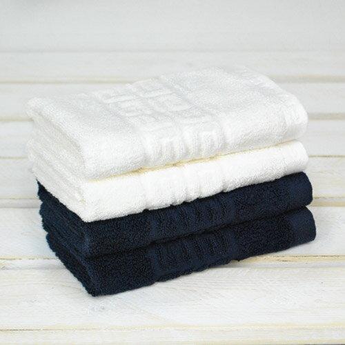 ~GIVENCHY紀凡希~4G凹凸圖紋素色方巾 藍 白 2色 100^%純棉毛巾  UCH