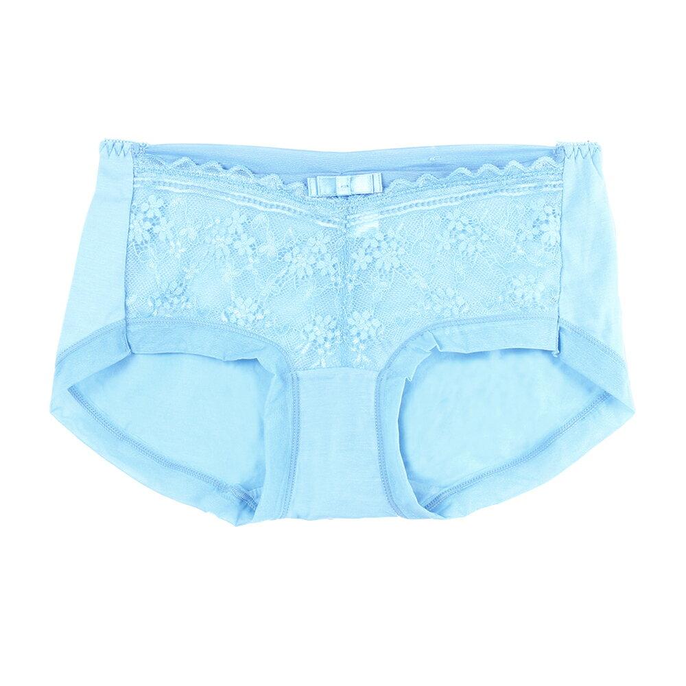【夢蒂兒】典雅舒適蕾絲平口褲(海洋藍) 0