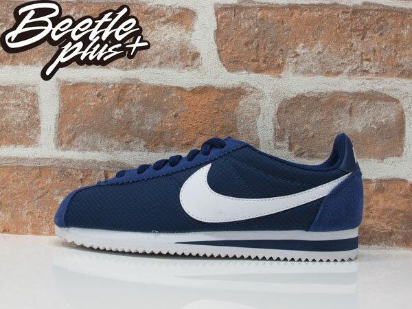 女生 BEETLE NIKE CLASSIC CORTEZ NYLON 深藍 白勾 阿甘鞋 慢跑鞋 749864-414