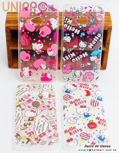 【UNIPRO】 HTC ONE M7 Hello Kitty 凱蒂貓 滿版 透明 TPU 手機殼 保護套 正版