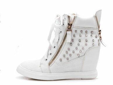 韓版鉚釘內增高鞋