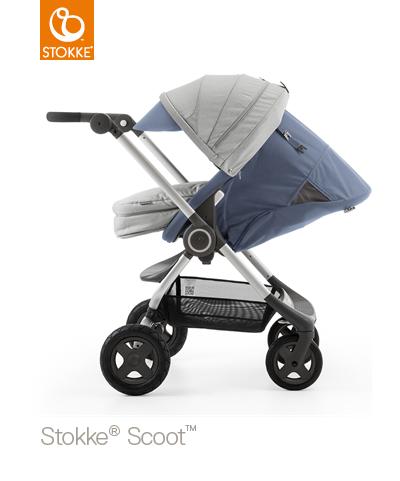 【贈Borny安全帶護套(花色隨機)】Stokke Scoot 2代嬰兒手推車(藍灰色) (11月底到貨) 1