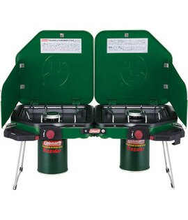 【露營趣】中和 美國 Coleman 摺疊瓦斯雙口爐 瓦斯爐 行動廚房 露營 野炊 CM-6794