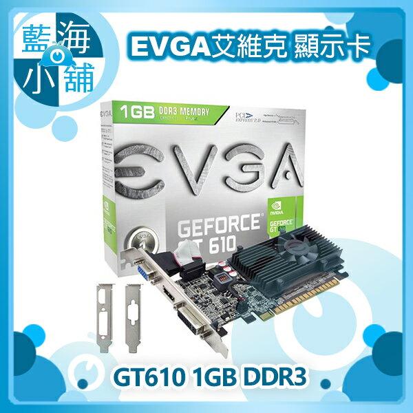 EVGA 艾維克 GT610 1GB DDR3顯示卡