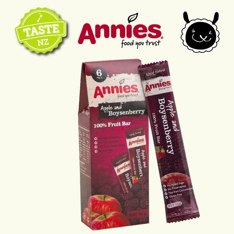 【壽滿趣- 紐西蘭原裝進口】Annies 全天然水果條(草莓/波森莓/百香芒果,任選 6盒共36片) 2