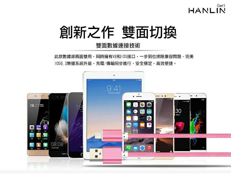 【風雅小舖】HANLIN-Get1 革命極速兩用手機充電線-安卓蘋果一頭搞定 (免轉接頭) 3