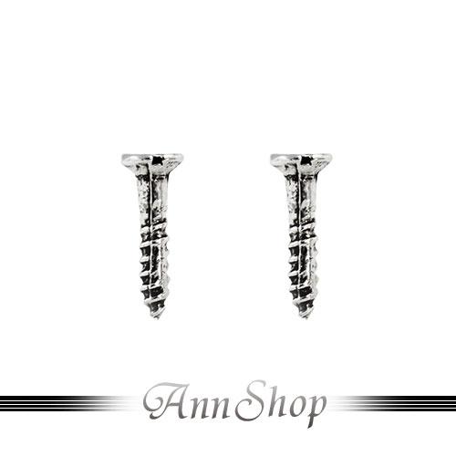 AnnShop~925純銀‧螺絲釘耳飾~銀飾飾品 情人 e9830