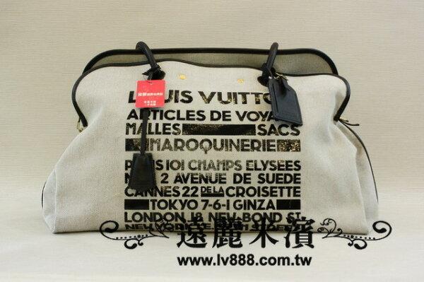 lv麻質黑邊手提肩背tokyo限量版購物袋
