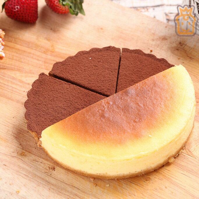 6吋雙拼派:比利時72%生巧克力+紐約重乳酪【布里王子】 0
