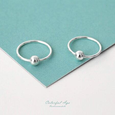 925純銀耳針耳環 細緻質感小圈圈設計耳環 可戴耳骨 抗過敏抗氧化 柒彩年代【NPD17】一對價格 0