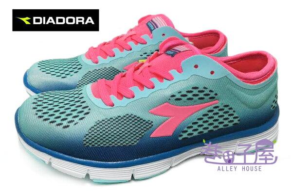【巷子屋】義大利國寶鞋-DIADORA迪亞多納 女款超彈力抗壓輕量運動慢跑鞋 [2506] 藍桃紅 超值價$590