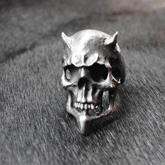 【海外訂購】【MAD CULT】獨裁撒旦骷髏純銀戒指(MAD-R-10) 0