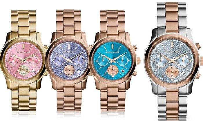 美國Outlet 正品代購 Michael Kors MK 三眼 雙色精鋼 滿鑽 手錶 腕錶 MK6166 1