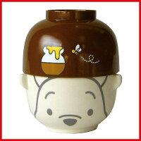 小熊維尼周邊商品推薦Disney維尼小熊陶碗與日本製漆器蓋碗組_亞迪