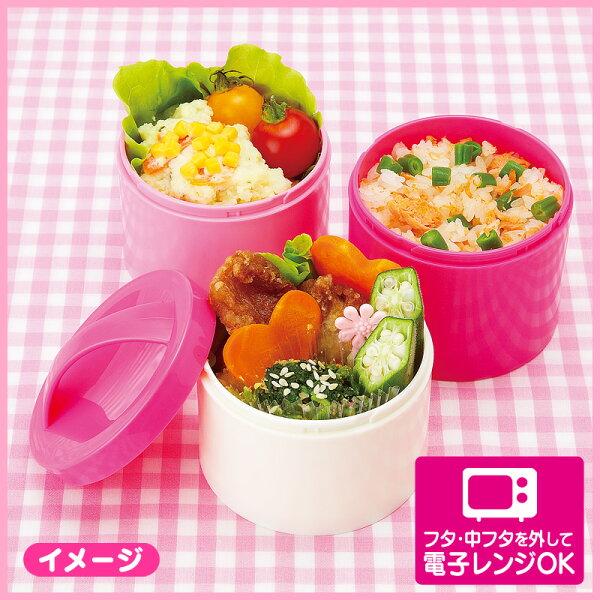 Hello Kitty日本製三層餐盒(格紋)_亞迪