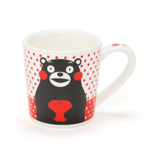 【熊本熊】小巧陶磁馬克杯(點點蘋果)